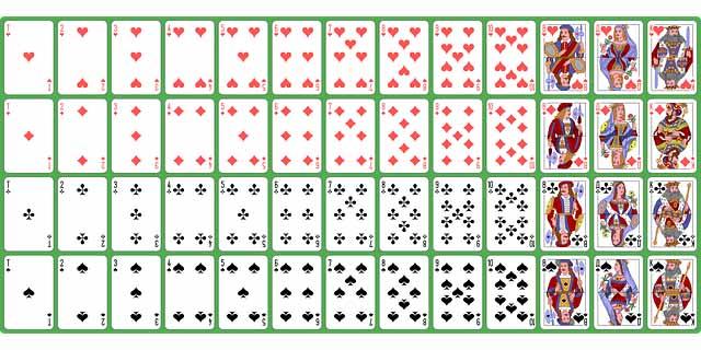 un jeu de carte complet