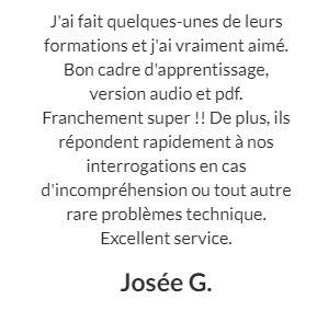 le témoignage de Josée G. sur la formation en cartomancie