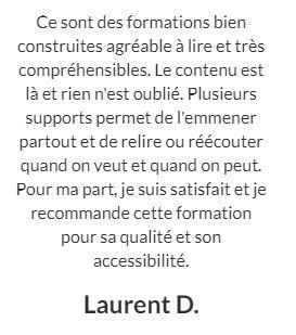 Un témoignage de Laurent sur la formation